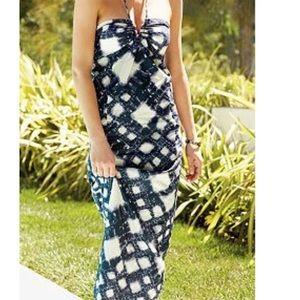 EUC Lauren Conrad geometric print maxi dress 10